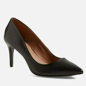 Vince Camuto Classic Leather Black Heels Stiletto